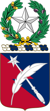 Coat of arms (crest) of the 149th Personnel Services Battalion, Texas Army National Guard