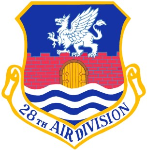 Coat of arms (crest) of the 28th Air Division, US Air Force