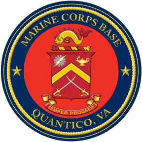 Coat of arms (crest) of the Marine Corps Base Quantico, Virginia, USMC