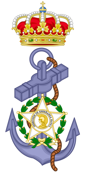 Coat of arms (crest) of the Directorate of Naval Education, Spanish Navy