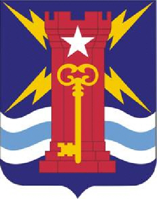 Coat of arms (crest) of the Special Troops Battalion, 4th Brigade, 1st Infantry Division, US Army