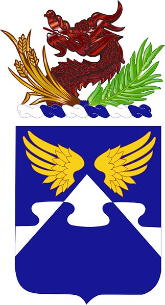 Coat of arms (crest) of the 4th Aviation Regiment, US Army