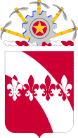 Coat of arms (crest) of the 35th Engineer Battalion, US Army