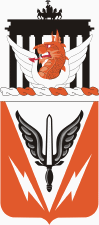 Coat of arms (crest) of the 112th Signal Battalion, US Army