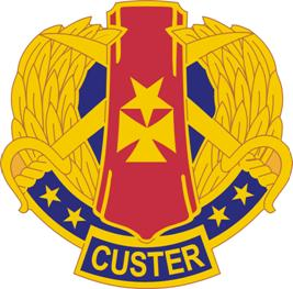 Arms of 85th Infantry Division Custer (now 85th Custer Army Reserve Support Command (West)), US Army