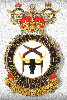 Coat of arms (crest) of the No 12 Squadron, Royal Australian Air Force