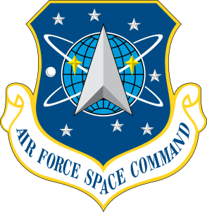 Coat of arms (crest) of the Air Force Space Command, US Air Force