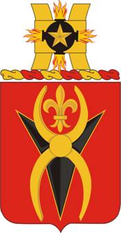 Coat of arms (crest) of the 589th Support Battalion, US Army