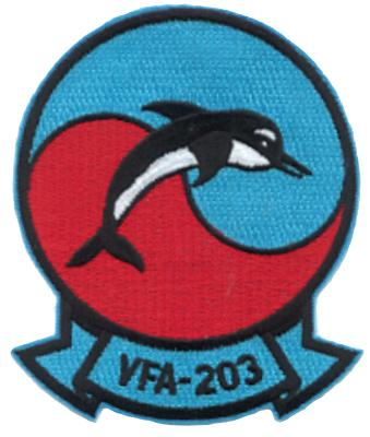 Coat of arms (crest) of the VFA-203 Blue Dolphins, US Navy