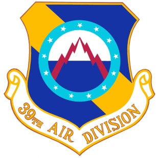 Coat of arms (crest) of the 39th Air Division, US Air Force