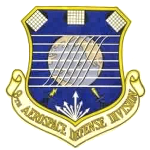 Coat of arms (crest) of the 9th Aerospace Defense Division, US Air Force