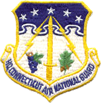 Coat of arms (crest) of the Connecticut Air National Guard, US
