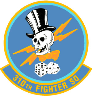 Coat of arms (crest) of the 310th Fighter Squadron, US Air Force