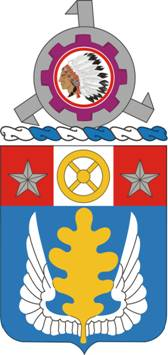 Arms of 168th Support Battalion, US Army