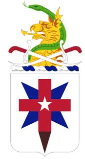 Coat of arms (crest) of the 32nd Medical Battalion, US Army