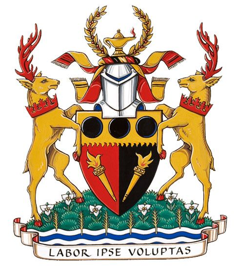Arms (crest) of Cornwall Collegiate and Vocational School