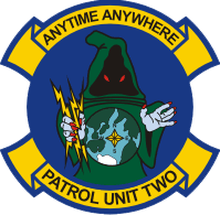 Coat of arms (crest) of the Patrol Squadron Special Unit 2 (VPU-2) Wizards, US Navy