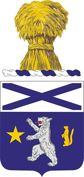 Coat of arms (crest) of the 136th Infantry Regiment, Minnesota Army National Guard