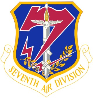 Coat of arms (crest) of the 7th Air Division, US Air Force