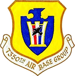 Coat of arms (crest) of the 7350th Airbase Group, US Air Force