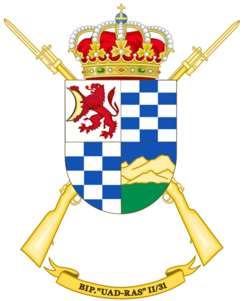 Coat of arms (crest) of the Protected Infantry Battalion Uad Ras II-31, Spanish Army