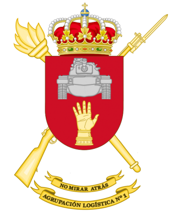Coat of arms (crest) of the Divisional Logistics Group No 1, Spanish Army