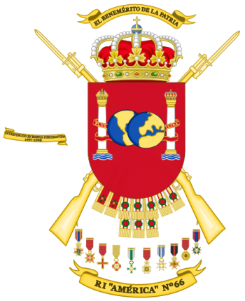 Coat of arms (crest) of the Infantry Regiment America No 66, Spanish Army