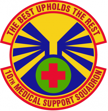 Coat of arms (crest) of the 10th Medical Support Squadron, US Air Force