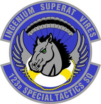 Coat of arms (crest) of the 123rd Special Tactics Squadron, US Air Force