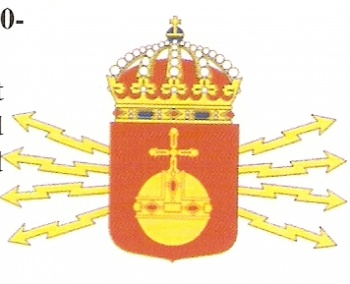 Coat of arms (crest) of the 1st Signals Regiment Uppland Regiment, Swedish Army