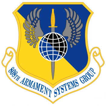 Coat of arms (crest) of the 808th Armament Systems Group, US Air Force