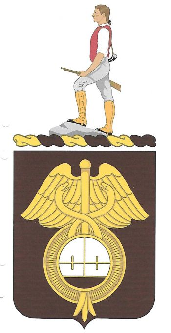 Coat of arms (crest) of the 424th Medical Battalion, US Army