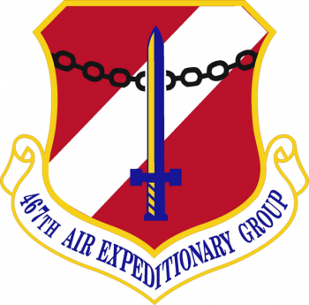 Coat of arms (crest) of the 467th Air Expeditionary Group, US Air Force
