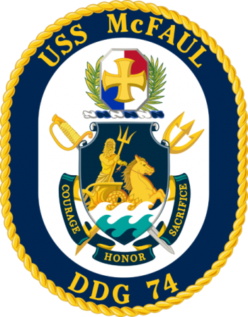 Coat of arms (crest) of the Destroyer USS McFaul