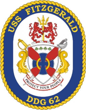 Coat of arms (crest) of the Destroyer USS Fitzgerald