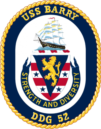 Coat of arms (crest) of the Destroyer USS Barry