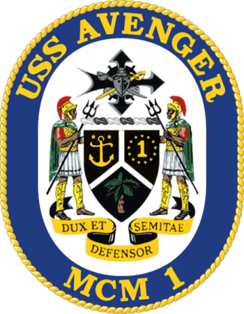 Coat of arms (crest) of the Mine Countermeasures Ship USS Avenger