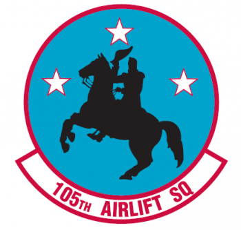 Coat of arms (crest) of the 105th Airlift Squadron, Tennessee Air National Guard