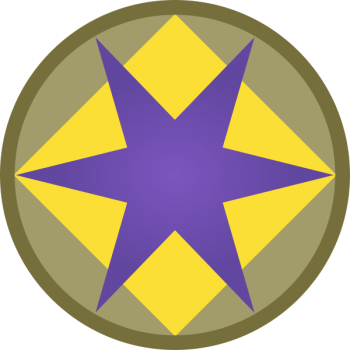 Coat of arms (crest) of the 46th Infantry Division (Phantom Unit), US Army