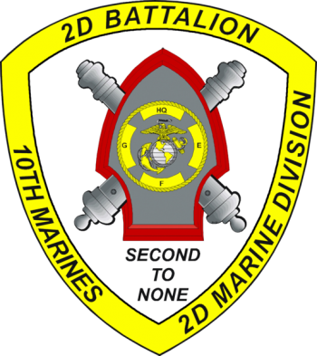 Coat of arms (crest) of the 2nd Battalion, 10th Marines, USMC