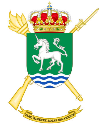 Coat of arms (crest) of the Barracks Services Unit Alférez Rojas Navarrete, Spanish Army