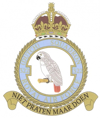 Coat of arms (crest) of the 322nd Squadron, Netherlands Air Force