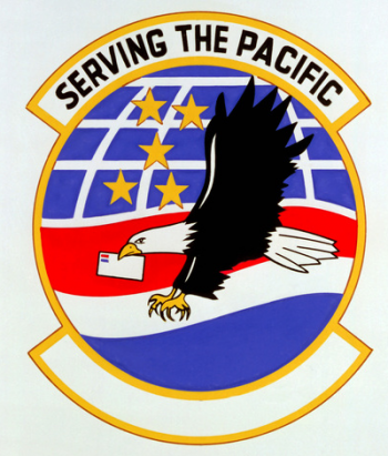 Coat of arms (crest) of the 6005th Air Postal Squadron, US Air Force