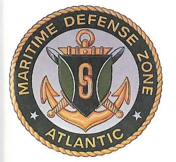 Coat of arms (crest) of the Maritime Defense Zone Atlantic, US Navy