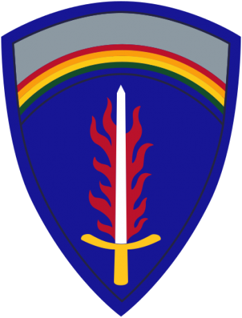 Coat of arms (crest) of the US Army Europe (USAEUR), US Army
