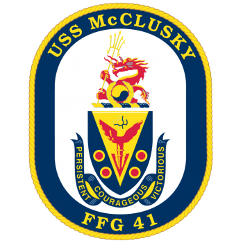 Coat of arms (crest) of the Frigate USS McClusky (FFG-41)