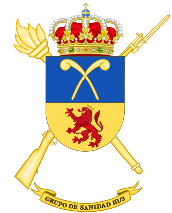 Coat of arms (crest) of the III-3rd Army Health Services Group, Spanish Army