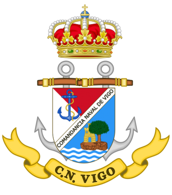Coat of arms (crest) of the Naval Command of Vigo, Spanish Navy