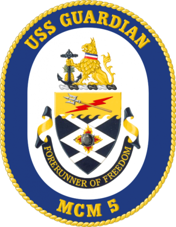 Coat of arms (crest) of the Mine Countermeasures Ship USS Guardian