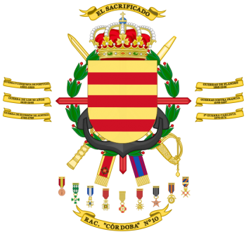 Coat of arms (crest) of the Armoured Regiment Córdoba No 10, Spanish Army